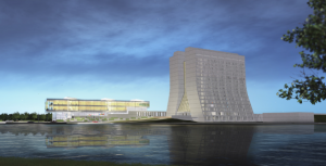 Artist rendering of a conceptual design concept for the Integrated Engineering Research Center.